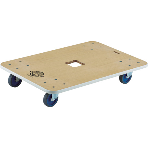 TRUSCO(トラスコ) 木製平台車 ジュピター 800X550mm φ100 300kg JUP-800-300