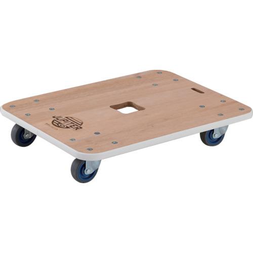 TRUSCO(トラスコ) 木製平台車 ジュピター 900X450 φ75 200kg JUP-9045-200