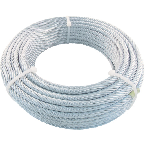 TRUSCO(トラスコ) JIS規格品メッキ付ワイヤロープ (6X24)φ9mmX50m JWM-9S50
