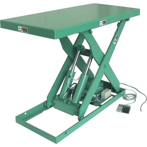 【直送】【代引不可】河原 標準リフトテーブル Kシリーズ 電動油圧式 0.75KW 1000kg 590X910mm K-1004