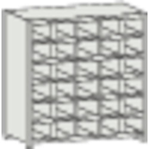 【直送】【代引不可】TRUSCO(トラスコ) 区分棚 コボレ止め付 KA型 889X212X927 5列6段 KA-5063