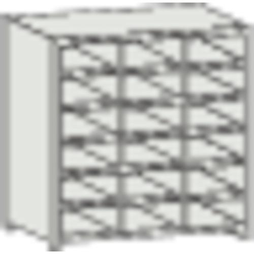 【直送】【代引不可】TRUSCO(トラスコ) 区分棚 コボレ止め付 KB型 889X264X927 3列6段 KB-3063