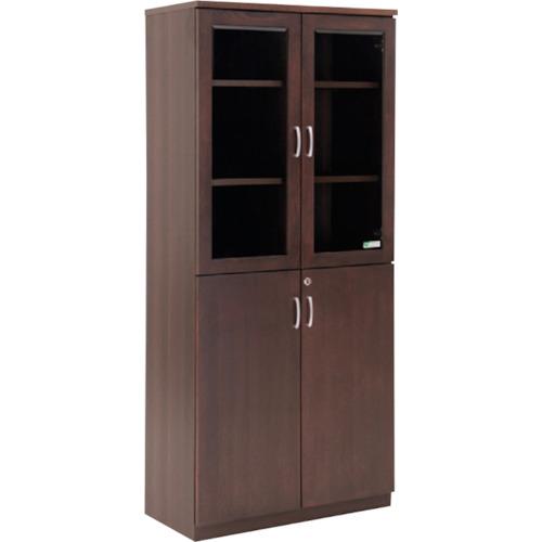 【直送】【代引不可】IRIS(アイリスチトセ) 応接家具 両開き書庫 KCMKV-0618BS
