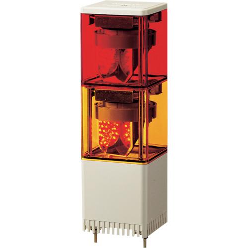 パトライト KES型 LED小型積層回転灯 82角 赤、黄 KES-202-RY