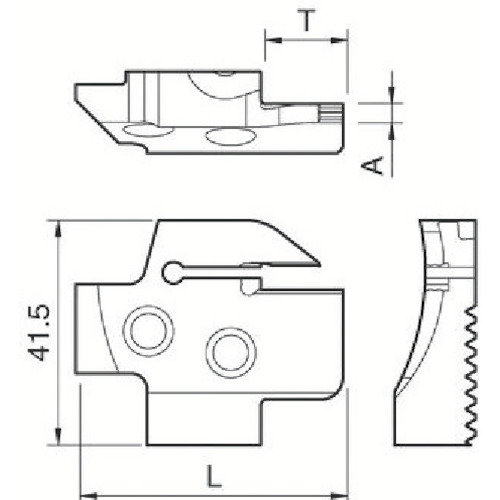京セラ 溝入れ用ホルダ KGDFR-85-3B-C