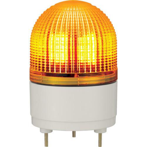 パトライト LED表示灯 φ100 点滅・流動・ストロボ発光 黄 KHE-24-Y