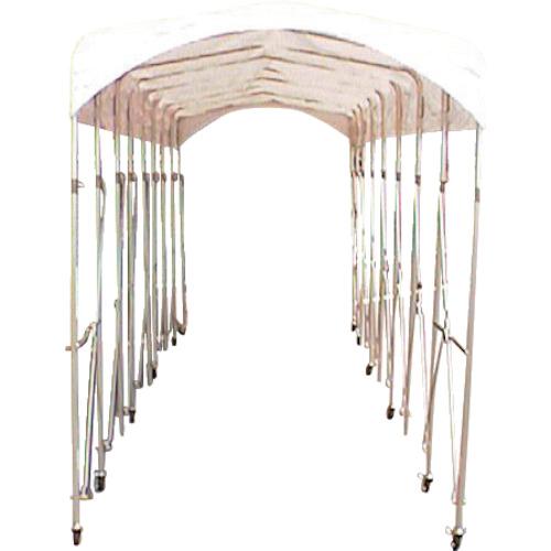 【直送】【代引不可】シンヤ(新屋製作所) 集会用ジャバラ式テント ルーパー21 1.5X5.0 KL-150