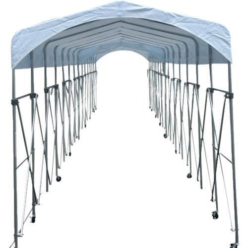 【直送】【代引不可】シンヤ(新屋製作所) 集会用ジャバラ式テント ルーパー21 1.8X5.0 KL-180