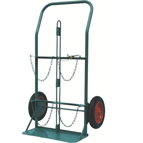 【直送】【代引不可】KS(カマミル) ボンベ運搬車 酸素7000L容器、アセチレン7.0kg容器用 KS-COMPACT