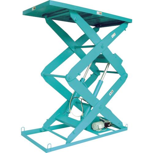 【直送】【代引不可】河原 3段式リフトテーブル KTLシリーズ 電動油圧式 500kg 800X1200mm KTL-0812-20-05
