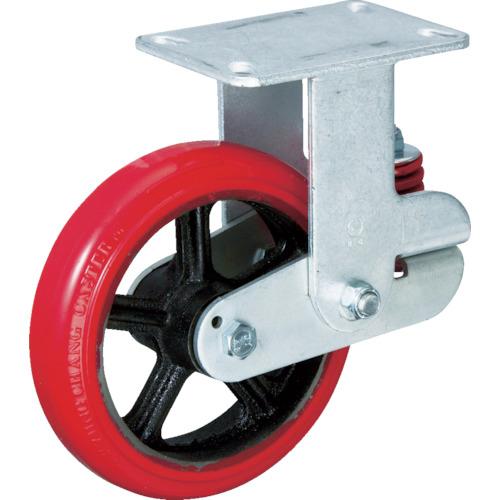 イノアック車輌 バネ付牽引車輪 ウレタン 固定金具付 φ150 KTU-150WK-YS