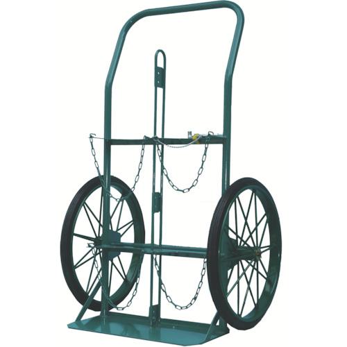 【直送】【代引不可】KS(カマミル) ボンベ運搬車(大車輪型、仕切板付)酸素7000L、アセチレン7.0kg用 KU-O-P