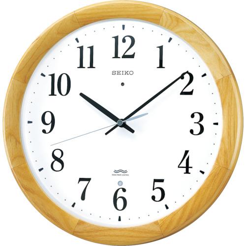 SEIKO(セイコークロック) 電波掛時計 天然色木地塗装直径326x47 KX311B