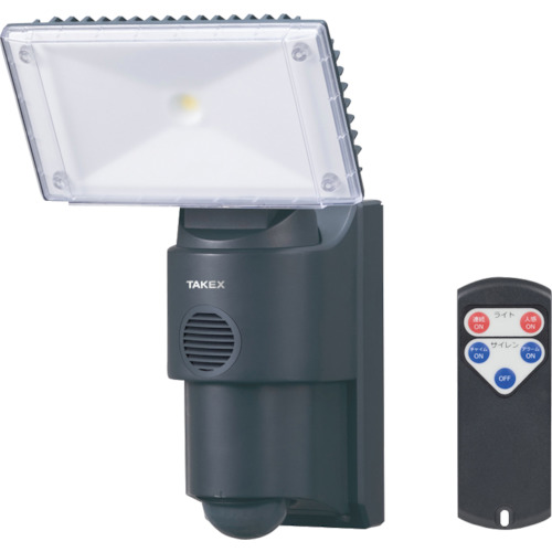 竹中エンジニアリング サイレン付LED人感ライト LCL-30SI