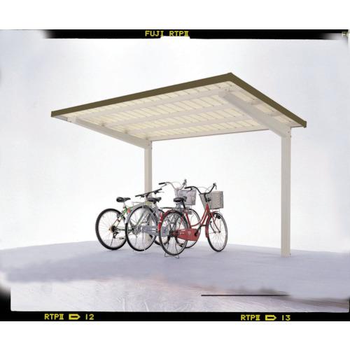【直送】【代引不可】ダイケン 自転車置場サイクルロビー 基準型スチール屋根 間口2250 LCY-FS5