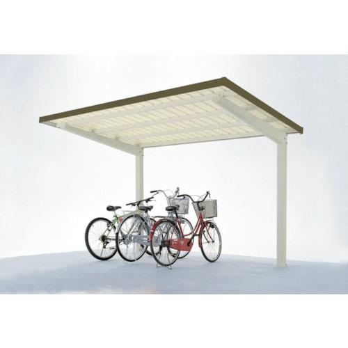 【直送】【代引不可】ダイケン 自転車置場サイクルロビー 基準型スチール屋根 間口2700 LCY-FS6