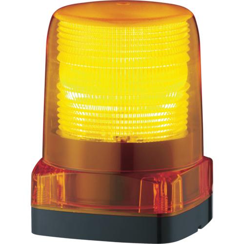 パトライト LEDフラッシュ表示灯 黄 LFH12Y
