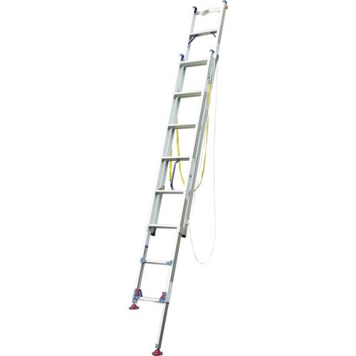 【直送】【代引不可】Pica(ピカ) 脚アジャスト式 2連はしご 4.19~4.55m LGW-44GD