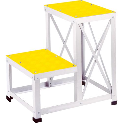 【直送】【代引不可】ユニオンスチール ローハイシステムステップ アルミ製足踏台 500X350XH500 黄 LH-2651A-YE