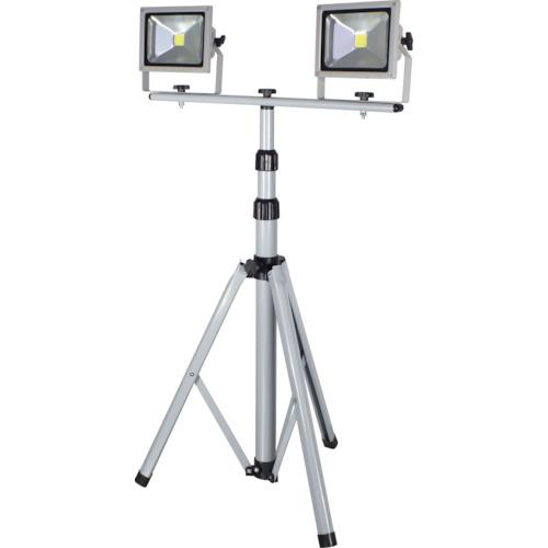 日動(NICHIDO) LED作業灯 20W 二灯式三脚 LPR-S20LW-3ME