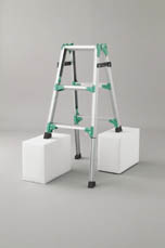 ハセガワ(長谷川工業) 脚部伸縮式アルミはしご兼用脚立 RYZ型 4段 RYZ1.0-12