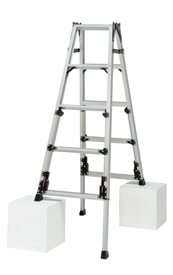 Pica(ピカ) 四脚アジャスト式はしご兼用脚立 SCN-150