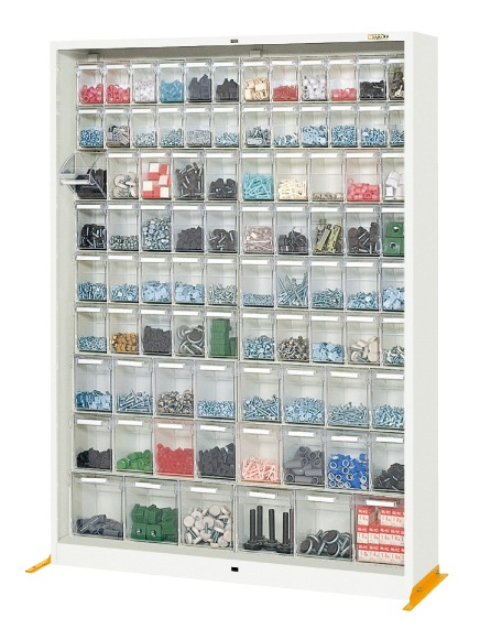 【直送】【代引不可】サカエ(SAKAE) カセットシリーズ 保管庫 小24・中小40・中大16・大6 1260X320X1770 CTH-1WGL
