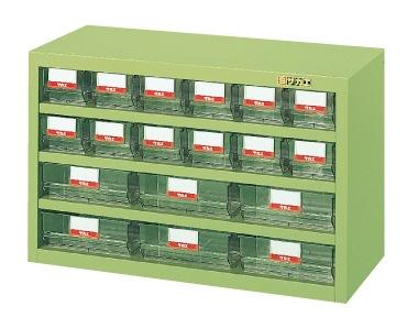 【直送】【代引不可】サカエ(SAKAE) ハニーケース 樹脂ボックス 小12・大6 690X300X440 グリーン HFS-126T