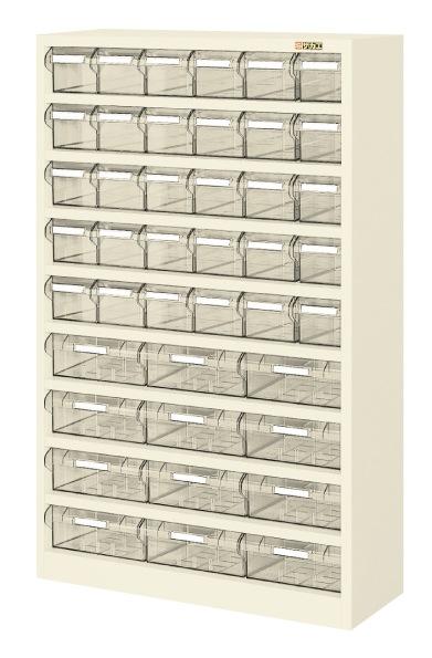 【直送】【代引不可】サカエ(SAKAE) ハニーケースII 樹脂ボックス 小30・大12 842X300X1320 アイボリー HK-42I