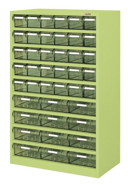 【直送】【代引不可】サカエ(SAKAE) ハニーケースII 樹脂ボックス 小30・大12 842X450X1320 グリーン HK-42L