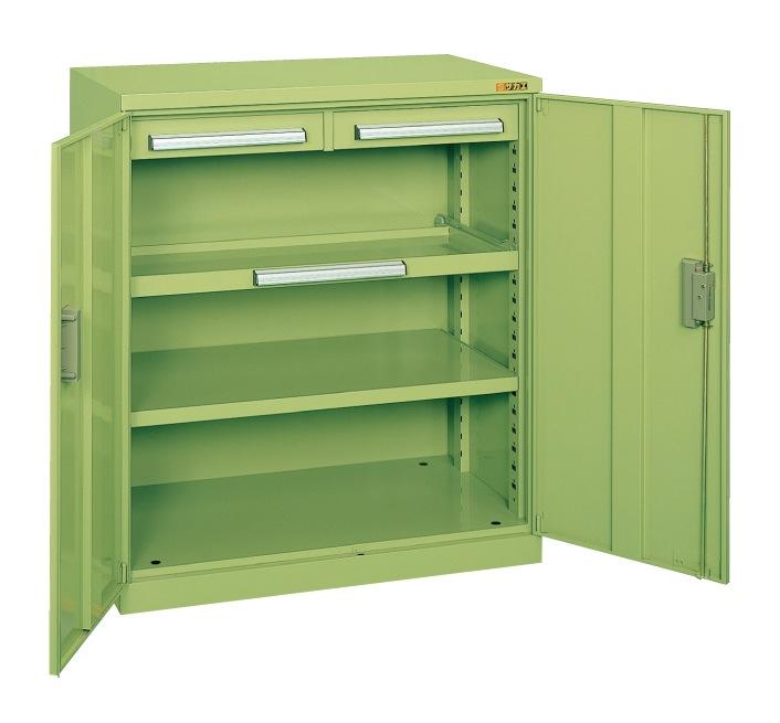 【直送】【代引不可】サカエ(SAKAE) ミニ工具室 880X516X1000 グリーン K-100N