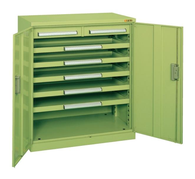 【直送】【代引不可】サカエ(SAKAE) ミニ工具室 880X516X1000 グリーン K-103N