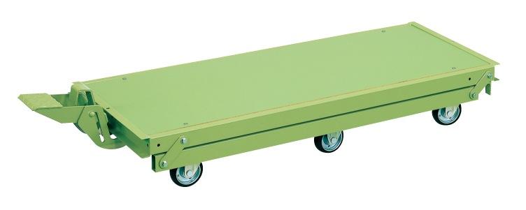 KTW-187Q6DPS 1800X750用 【直送】【代引不可】サカエ(SAKAE) 作業台オプションペダル昇降台車 クイックターン方式