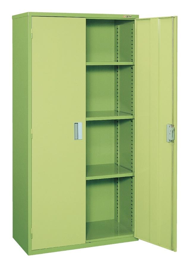【直送】【代引不可】サカエ(SAKAE) 工具管理ユニット スチール両開き扉 900X450X1760 グリーン KU-90A2