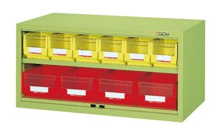 【直送】【代引不可】サカエ(SAKAE) 工具管理ユニット ボックス付 900X450X440 グリーン KU-93D