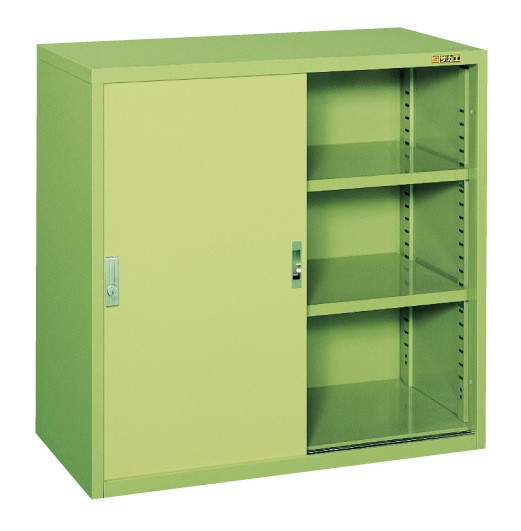 【直送】【代引不可】サカエ(SAKAE) 工具管理ユニット スチール引き戸 900X450X880 グリーン KU-93H