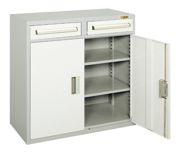 魅力的な価格 グレー 店 【直送】【】サカエ(SAKAE) KU-94BGY:工具屋のプロ 2列1段引出し付ロッカー 工具管理ユニット 900X450X880-DIY・工具