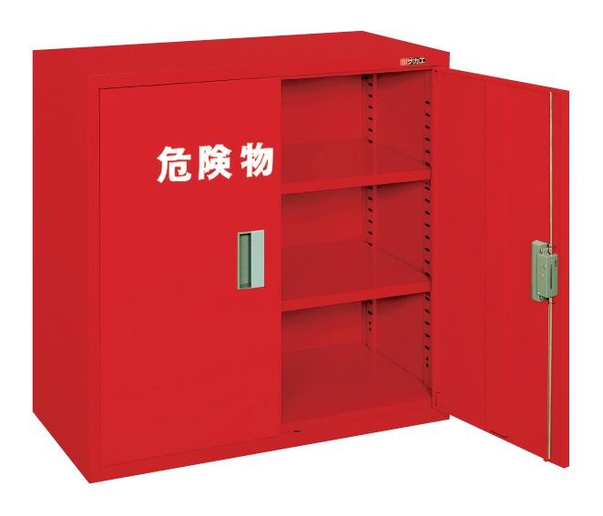 【直送】【代引不可】サカエ(SAKAE) 危険物保管ロッカー 両開扉 棚板2枚 900X450X880 赤 KU-AR