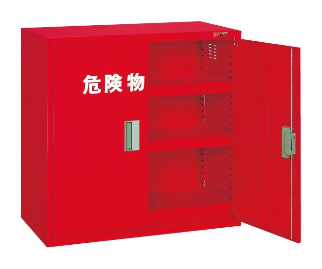 【直送】【代引不可】サカエ(SAKAE) 危険物保管ロッカー 両開扉 棚板3枚 900X450X880 赤 KU-AR1