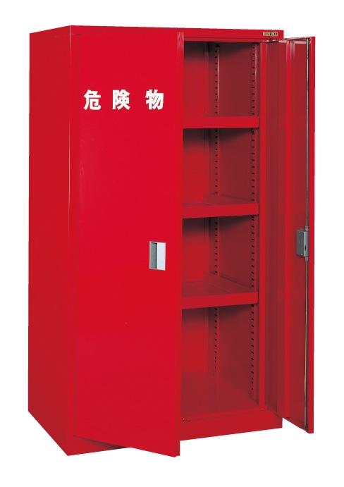 【直送】【代引不可】サカエ(SAKAE) 危険物保管庫ロッカー 横ケント式 棚板3枚 994X623X1760 赤 KU-KAR2