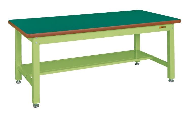 販売 直送 代引不可 サカエ SAKAE 重量作業台KW中板1枚付 本体グリーン 1800X800X740 サカエリューム天板グリーン KWF-188T 割引も実施中