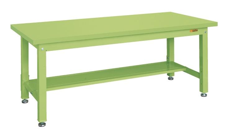 【直送】【代引不可】サカエ(SAKAE) 重量作業台KW中板1枚付 1800X800X740 本体グリーン スチール天板グリーン KWS-188T