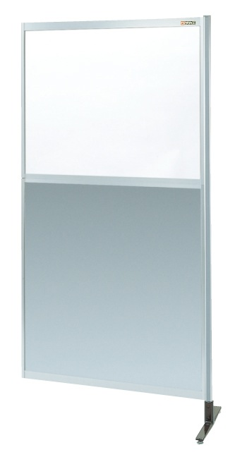 【直送】【代引不可】サカエ(SAKAE) パーティション 透明塩ビ(上) アルミ板(下)タイプ(連結) 900X1800 NAE-36NR