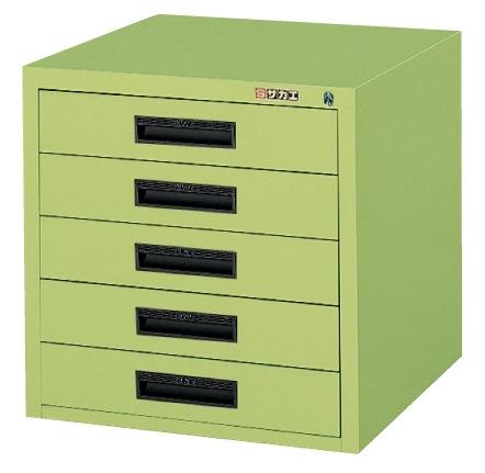 【直送】【代引不可】サカエ(SAKAE) NKLキャビネット 5段 500X500X496 グリーン NKL-55