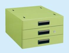 【直送】【代引不可】サカエ(SAKAE) 大型作業台用オプションキャビネット 400X500X246 グリーン NKL-S30F