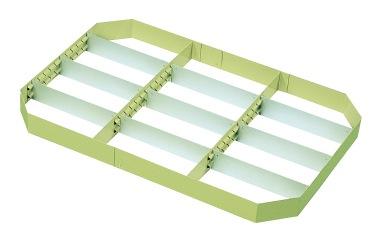 サカエ(SAKAE) ニューパールワゴン用オプション仕切板セット 750X500用 PK-2
