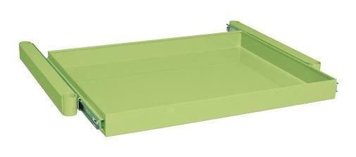 【直送】【代引不可】サカエ(SAKAE) ニューパールワゴンオプション スライド棚 750X500X50 アイボリー PKR-AIN