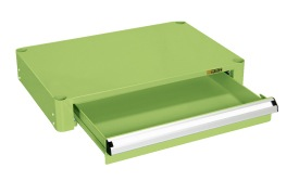 【直送】【代引不可】サカエ(SAKAE) パールワゴン用オプション浅引出しセット 750X500用 グリーン PKR-RC
