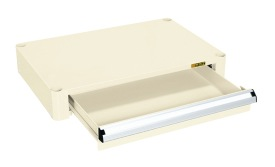 【直送】【代引不可】サカエ(SAKAE) パールワゴン用オプション深引出しセット 600X400用 アイボリー PMR-RFCI