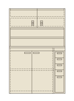 激安大特価! 1200X650X2000 PN-H24D:工具屋のプロ 店 【直送】【】サカエ(SAKAE) ピットイン-DIY・工具